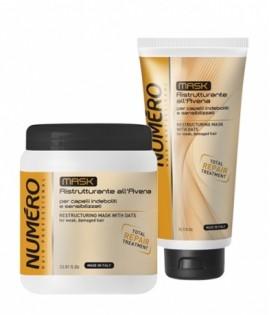 Маска для восстановления структуры волос с экстрактом овса BRELIL NUMERO