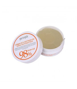 Патчи для глаз PETITFEE Collagen and Co Q10 Hydrogel Eye Patch, 60 шт