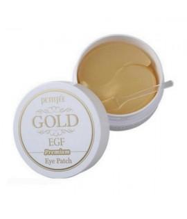 Патчи для глаз PETITFEE Premium Gold and EGF Eye Patch, 60 шт