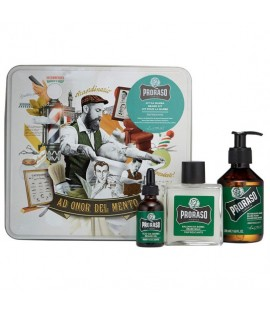 Набор подарочный для ухода за бородой из 3-х предметов PRORASO Beard kit Refresh