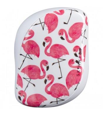 Расчёска TANGLE TEEZER COMPACT STYLER Flamingo Skinny Dip White